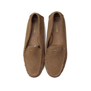 Coach Amber Cognac Leather Flat Loafers 10